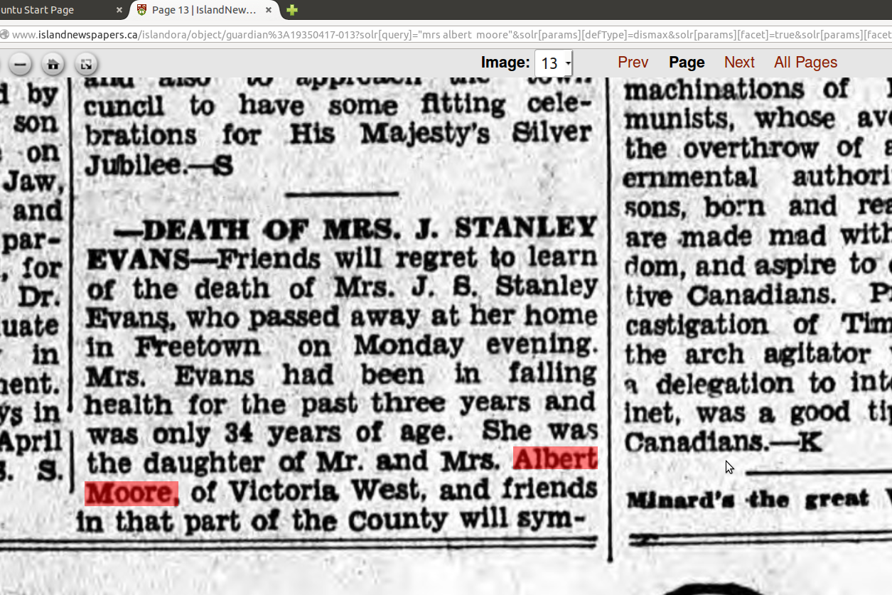 Evans_Mrs_Stanley_death