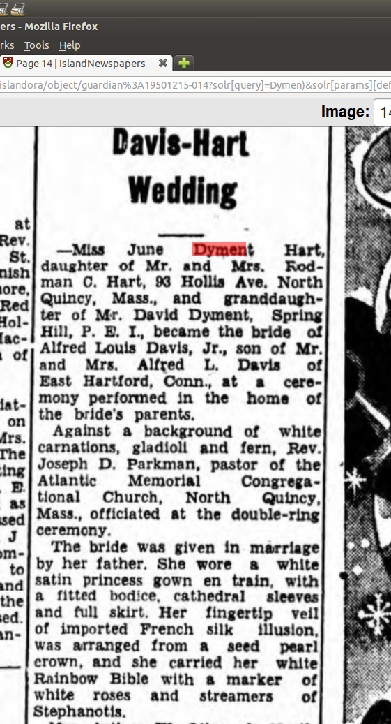 Hart_Davis_marriage_1950